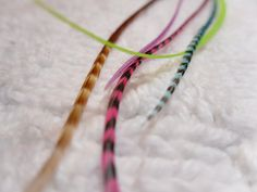 Hair Feather Extension Pink Turquoise Grizzly Kit by SolDoggie, $16.95
