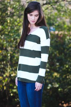 0520b9f0e55ff Love this striped sweater for winter! Wide Stripes, Epiphany, Short Girls,  Warm