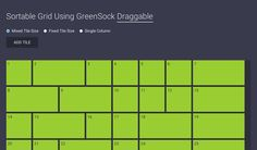 Sortable Grid Using GreenSock Draggable