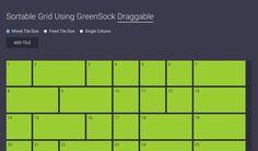 Sortable Grid Using GreenSock Draggable