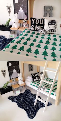 Eco Forest blanket bedroom.   http://www.spearmintlove.com/eco-forest-blanket/