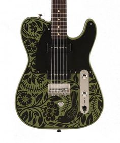 Creston Electric Instruments | GUITARS  Created by Sarah Ryan for Gene Parsons.