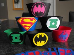 Superhero Cupcake Wrappers. $10.00, via Etsy.