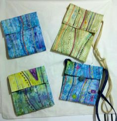 "stupendous bags - via @Craftsy ""Stupendous Stitching"" class.  Make your own fabric...."