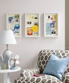 How to create a shadow box to turn keepsakes into wall art.
