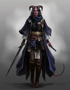 character concept art with elaborate belt, horned tiefling female character for DnD or Pathfinder Dungeons And Dragons Characters, D&d Dungeons And Dragons, Dnd Characters, Fantasy Characters, Female Characters, Fantasy Character Design, Character Design Inspiration, Character Concept, Character Art