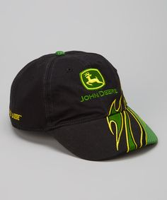 This Black  amp  Green Flame Baseball Cap by John Deere is perfect!   zulilyfinds 172cf067cfb5