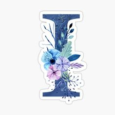 'Monogram A Icy Winter Bouquet' Sticker by floralmonogram Monogram Design, Monogram Letters, Lettering Design, Hand Lettering Alphabet, Alphabet Art, Winter Bouquet, Winter Flowers, A Letter Wallpaper, Drawing Hair Tutorial