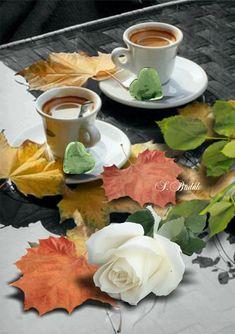Good Morning Coffee, Good Morning Wishes, Coffee Cafe, Coffee Drinks, Autumn Tea, Spiced Coffee, Latte Art, Chocolate, Tea Time