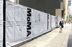 I went to MoMA and... - The Department of Advertising and Graphic Design #Hoarding #Barricade #graphics