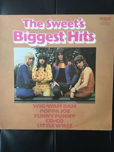 The Sweet Biggest Hits Original Vinyl Album 1972 by NicholasAllSorts on Etsy https://www.etsy.com/uk/listing/498462684/the-sweet-biggest-hits-original-vinyl