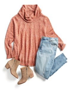 c4744b787bb0f Easy Fall Outfit Ideas The sweater color style and the booties caught my eye