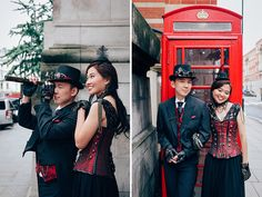 steampunk london engagement cosplay pre wedding vintage fantasy autumn photo shoot kynance mews kensington (14)