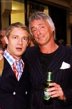 Martin Freeman & Paul Weller... I think the world just exploded or something... AWESOME AWESOME AWESOME!!!