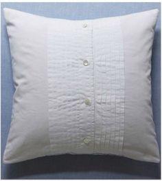 Tuxedo shirt pillow