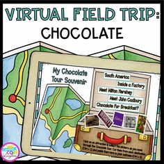 ⭐Let's all take a field trip! In this Virtual Field Trip, students learn all about chocolate. This virtual field trip contains embedded videos, Google Earth, images, and more. Students read about and virtually visit farms, factories, and more to learn about how chocolate is made, how cocoa grows, and the people behind the chocolate. Elementary Science, Elementary Teacher, Writing Assignments, Writing Prompts, Virtual Field Trips, Student Reading, Google Classroom, Science Lessons, Reading Skills
