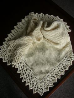 Ravelry: Easy Baby Blanket with Lace Option pattern by Denny Kelly