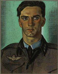 Eric Kennington (English, 1888-1960),Captain W Mohr: a Squadron Commander of the Royal Norwegian Air Force serving with the RAF, 1942.