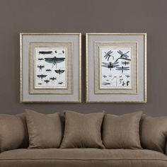 Uttermost Naturelle Insects Wall Art - Set of 2 - 41564