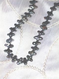 Peacock Pearl Crossses Necklace or Wrap Bracelet by NorthCoastCottage Jewelry Design & Vintage Treasures on Etsy.com, $29.00. #handmade #jewelry #jewellery  www.etsy.com/shop/NorthCoastCottage