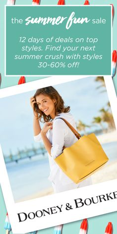 Dooney & Bourke Summer Fun Sale | Must-have deals on top styles. 30-60% Off June 18 - June 29, 2018! Dooney Bourke, Summer Fun, Must Haves, June, Purses, Bags, Clothes, Style, Fashion