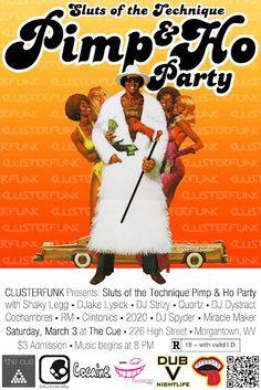 CLUSTERFUNK presents Sluts of the Technique Pimp & Ho Party at The Cue - March 3, 2012