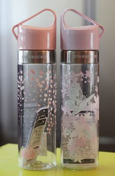 Korea Starbucks 2016 Cherry blossom Spring Butterfly Clay water bottle 591ml SET #Starbucks