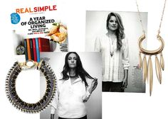 Real Simple featuring the Tempest Necklace by Stella & Dot.  Such a fantastic edgy statement piece. www.stelladot.com/leannemichelle