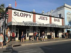 Sloppy Joe's Bar in Key West. One of Hemingway's faves and ours too!  Amazing sloppy joes! :)
