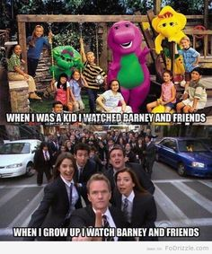 Barney and Friends: Then and Now