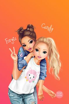 Bff Pics, Bff Pictures, Bff Images, Best Friend Images, Best Friend Drawings, Girly Drawings, Cute Outfits For Kids, Cute Girls, Friends Sketch