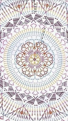 Best 12 Crochet Mandala + Diagram + Free Pattern Step By Step – SkillOfKing. - New Ideas Best 12 Crochet Mandala + Diagram + Free Pattern Step By Step – SkillOfKing. Best 12 Crochet Mandala + Diagram + Free Pattern Step By Step – SkillOfKing. Motif Mandala Crochet, Graph Crochet, Crochet Pillow Pattern, Crochet Circles, Crochet Cushions, Granny Square Crochet Pattern, Crochet Tablecloth, Crochet Stitches Patterns, Crochet Diagram