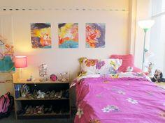 Dorm Design - 3 piece art on wall