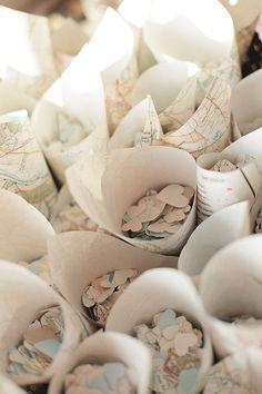 Little heart-shaped confetti.