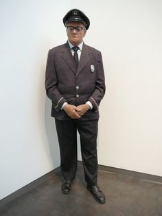 Artist Duane Hanson-this is one of his sculptures. They are so incredibly life-like. This guard was standing by the entrance to the exhibit. I thought he was real! If you ever get a chance to see his work, go see it!