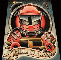 Hola Dave 2001: una odisea del espacio por ParlorTattooPrints