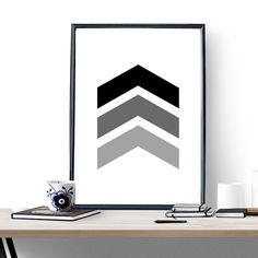 Chevron Печати Искусства плаката картинки живопись на стене home decor графический геометрические черно-белый Кадр не включают