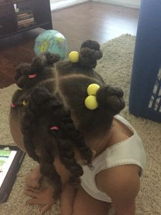 Natural hair...little girls #toddlers