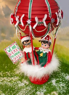 Hot Air Balloon Elf Arrival | A Little of This That