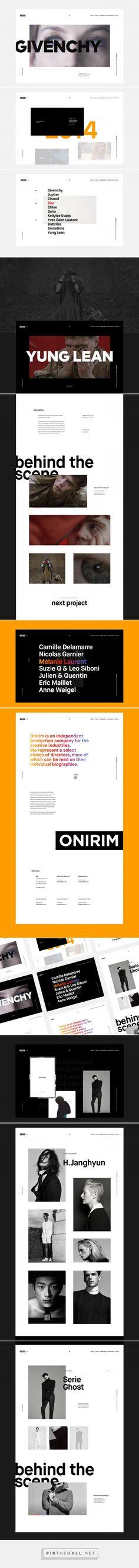 Onirim - Website on Behance - created via https://pinthemall.net