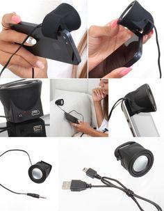 Stylish mini Bazooka speaker by Thanko for the iPhone l #design