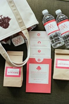 welcome bags for hotel rooms~ I use this idea for out of town guests when staying in our home. It's a great way to welcome our friends & family. Wedding Gift Bags, Wedding Welcome Bags, Wedding Favors, Wedding Events, Our Wedding, Destination Wedding, Dream Wedding, Weddings, Wedding Stuff