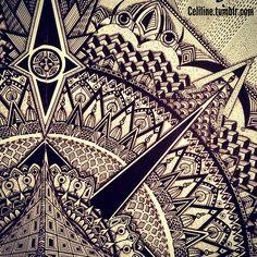 DARK - #zentangle #doodle #drawing #moleskine #illustration #sketchbook #artwork #mandala #artpiece #sketching #sketches #notebook #zendoodle #creative #ink #doodling #artstag #pattern #sketchpad #pencil #doodleart #zenart #zendoodle #zentangleart #mandalaart #colors #zentangled #zentangles #bw #b&w #black #tattoo #tattooinspiration