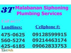 3T MALABANAN SIPHONING PLUMBING SERVICES 560-5274/09128599915 One of the Pioneer Excavator Work in the Philippines • Siphon Septic Sludge from Septic Tank • Drain Water, Waste ...