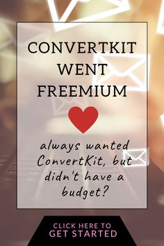 I've been a paid customer for over 2 years now and I absolutely love ConvertKit as a blogger and digital entrepreneur. I love how easy it is to work with. Have you heard about ConvertKit, but it wasn't within budget? Good news! They have a free plan now. Click to get started.