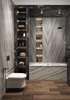 Minimalistische Luxus-Badezimmer-Design-Ideen - SHW Home Decor design lighting tiles bathroom decor bathroom bathroom bathroom decor bathroom ideas bathroom Contemporary Bathroom Designs, Bathroom Design Luxury, Modern Design, Modern Master Bathroom, Master Baths, Loft Bathroom, Minimal Bathroom, Master Bathrooms, Master Bedroom