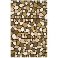 $582 Safavieh 7-ft 6x 9-ft 6-in Chocolate Pebbles Area Rug
