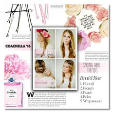 """Coachella -hair trend-"" by dolly-valkyrie ❤ liked on Polyvore featuring beauty, Chanel, BOBBY, Dollhouse, coachella and Coachella16"