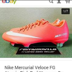 BRAND NEW Nike Mercurial Veloce FG cleats Never worn, outdoor soccer cleats. Still has tag. In person, the pink is a light coral color. Soles and cleat nubs are mint colored Nike Shoes Athletic Shoes