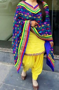 Cotton+Machine+Work+Yellow+Semi+Stitched+Patiala+Suit+-+Nf310 at Rs 1099
